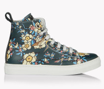 Cherry Blossom High-Top Sneakers
