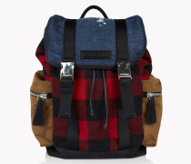 Denim Check Donald Backpack