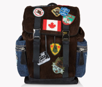 Corduroy Patch Donald Backpack