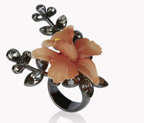 Flower Crystal Embellished Ring