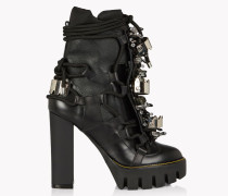 Crystal Embellished Platform Boots