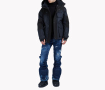 Hooded Wool-Blend Multi-Pocket Ski Parka