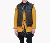 Mixed Fabric Puffer Vest