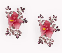 Flower Crystal Embellished Earrings