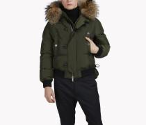 Fur Hood Puffer Bomber Jacket