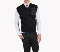 Chest Pocket Wool Vest