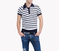Striped Wool Polo Hemd