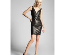 V  Neck Leather Dress
