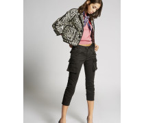Stretch Cotton Multipocket Cool Girl Cropped Pants