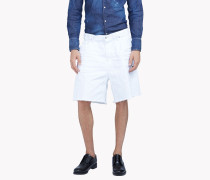 Baggy White Denim Shorts