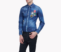 Patch Denim Hemd