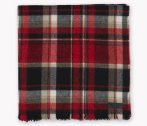 Check Wool Oversize Scarf