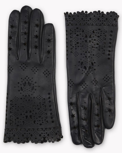 Laced Leather Gloves