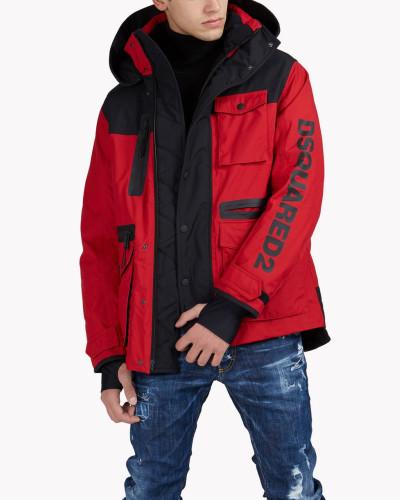D2 Ski Hooded Multi-Pocket Parka
