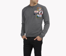 Patch Raglan Sweatshirt