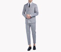 Slim-Fit Double-Breasted Cotton Napoli Suit