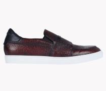 Pebble-Grain Leather Slip-Ons