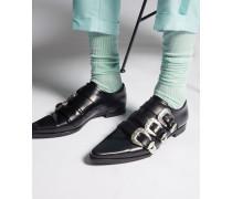 Hawaiian Rocker Gothika Flat Laced Up Shoes