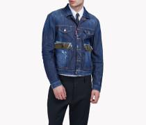 Contrasted Pocket Denim Jacket