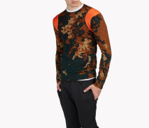 Camouflage Wool Crew Neck Pullover