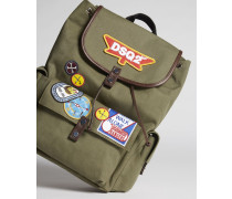 Bad Scout Military Trimmed Backpack