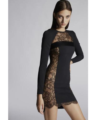 Stretch Cady Eloise Long Sleeves Dress