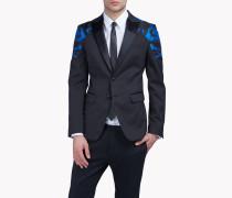 Camouflage-Trimmed Blazer