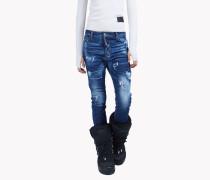 Distressed Gaiter Jeans