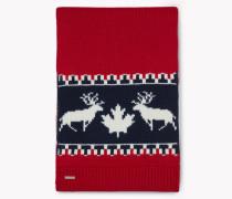 Nordic Deers Wool Knit Scarf