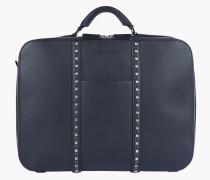 Stud Leather Briefcase
