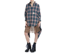 Oversize Check Wool Hemd