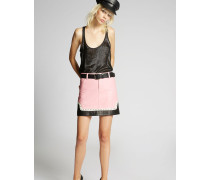 50's Rock Studded Leather Skirt