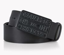 D2 Buckle Leather Belt