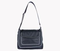 Leather Studded Cross-Body Bag
