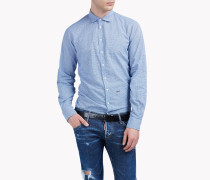 Relaxed-Fit Cotton Silk Shirt