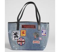 Patches Denim Bag