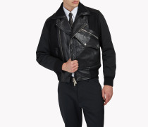 Leather Pocket Biker Jacket