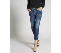 Dark Cool Girl Cropped Jeans