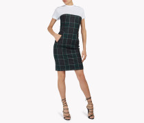 Strapless Flannel Check Dress