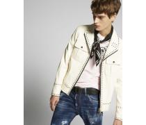Studded Lamb Leather Jacket