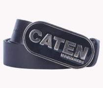 Leather Caten Buckle Belt