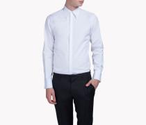 Long-Point Collar Slim-Fit Tux Hemd