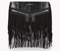 Fringed Leather Rock Clutch