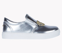 Metallic Slip On Sneakers