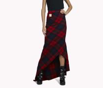 Check Wool Maxi Skirt