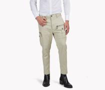 Gabardine Cargo Pants