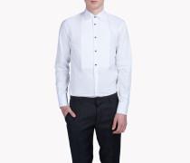 Spread Collar Bib Poplin Tux Hemd