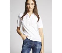 Ruffled Polo Hemd