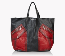 Contrasted Pocket Rock Tote