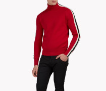 Striped Wool Turtleneck Pullover